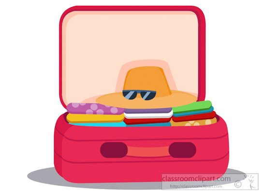 550x400 Travel Clipart Open Suitcase Clothes Inside For Travel Clipart