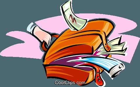 480x298 Open Suitcase Royalty Free Vector Clip Art Illustration Hous1213