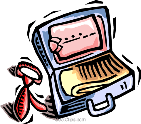 480x422 Open Suitcase Royalty Free Vector Clip Art Illustration Vc064468