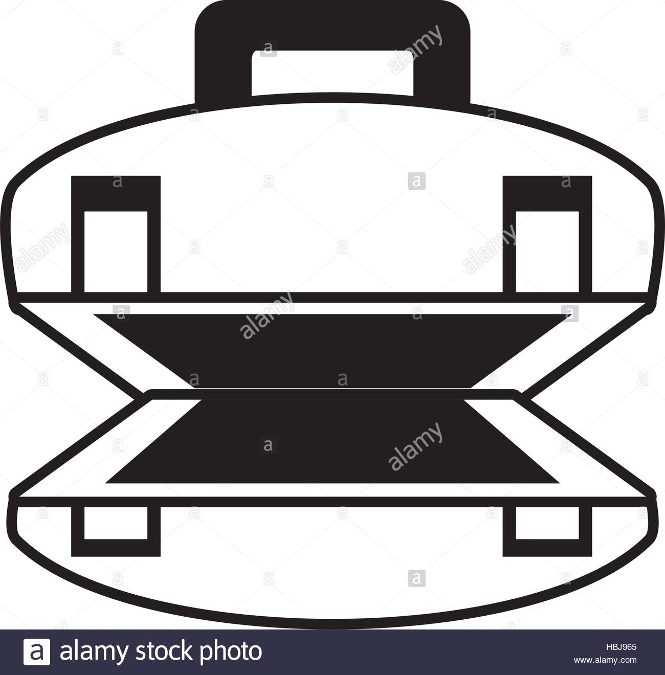 1300x1320 Outline Open Suitcase Luggage Travel Beach Vector Illustration Eps