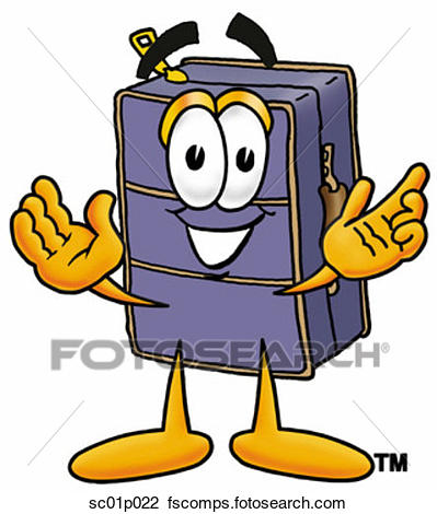 399x470 Clipart Of Suitcase With Arms Open Sc01p022