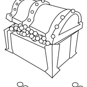 treasure chest lock coloring pages - photo#14