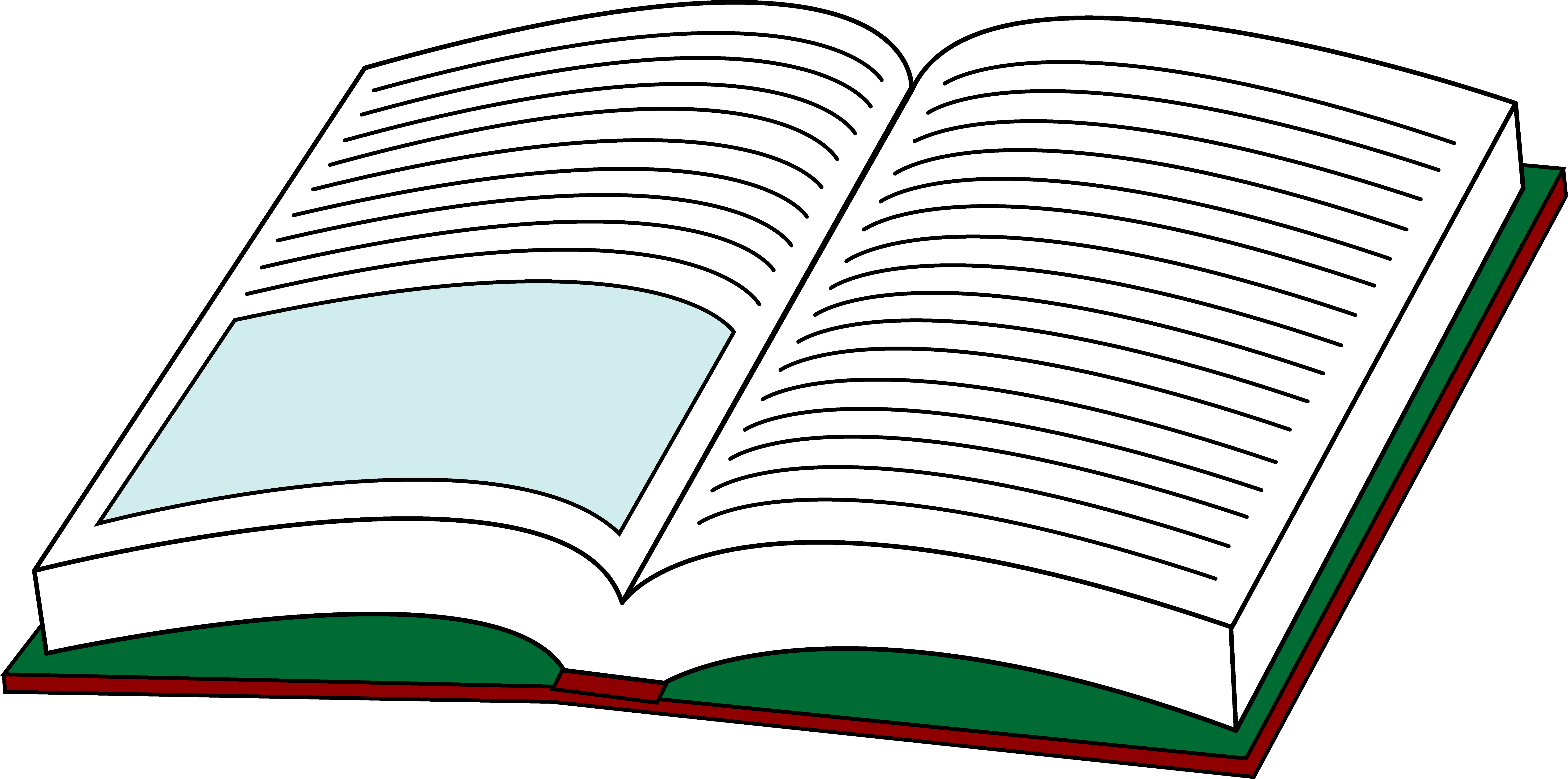 Open text. Your book clipart free