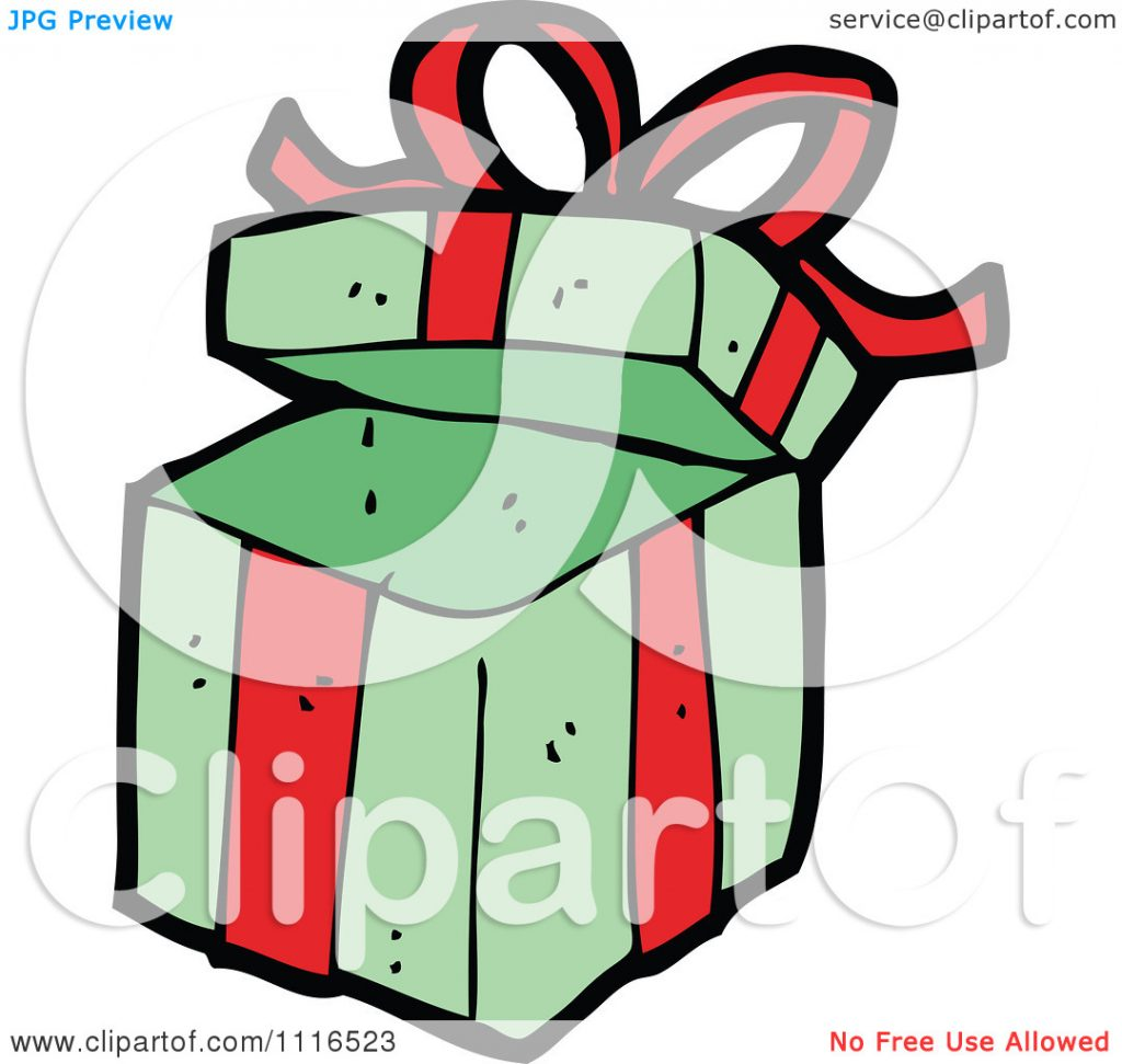 Christmas gift clipart free