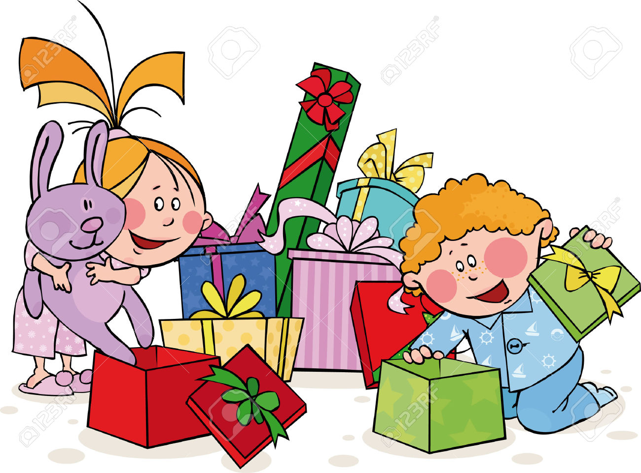 Opening Presents Clipart | Free download on ClipArtMag