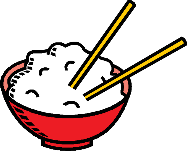 600x486 Clip Art Plate Of Rice Clipart