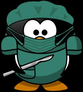 270x299 Penguin Surgeon Clip Art