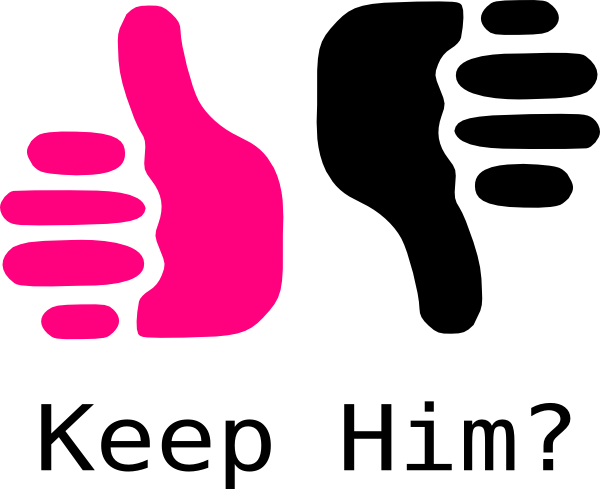 600x489 Thumbs Up Thumbs Down Pink And Black Clip Art