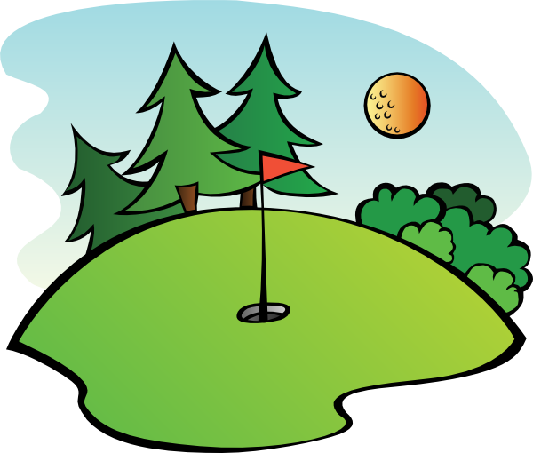 600x510 Free Cartoon Golf Clip Art Golf Course Clip Art Birdhouses