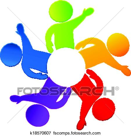 450x470 Clip Art Of Teamwork Saying Hi Logo Vector K18570607