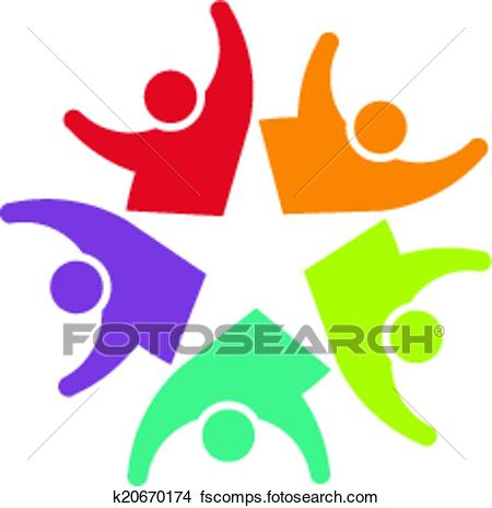 450x464 Clipart Of Vector Icon Happy Team Star K20670174