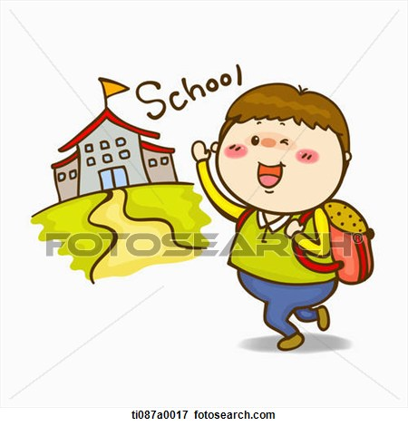 450x470 Going To School Clip Art