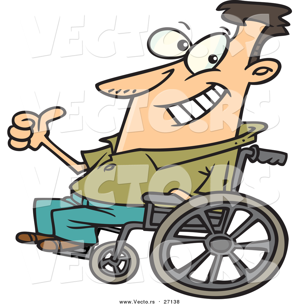 1024x1044 Vector Of An Optimistic Man Sitting On A Wheelchair