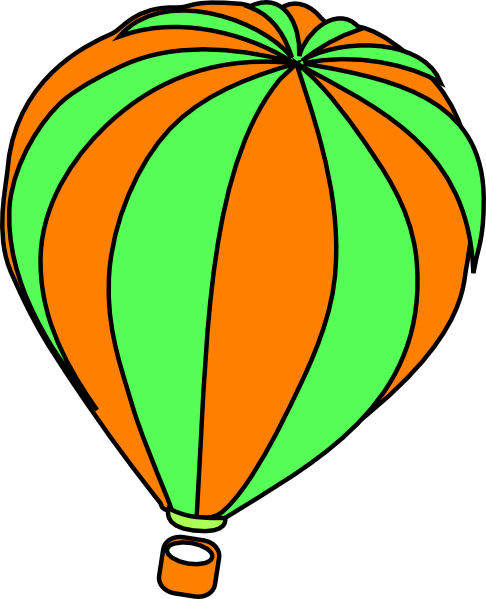486x599 Hot Air Balloon Grey Clip Art