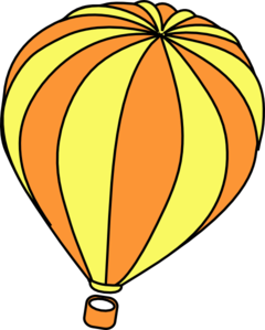 240x299 Hot Air Balloon One Clip Art