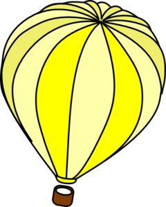 240x299 Hot Air Balloon Yellow Clip Art