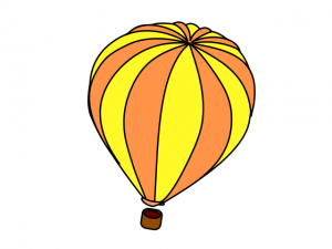 300x225 Hot Air Balloon Yellow Orange Clip Art Download