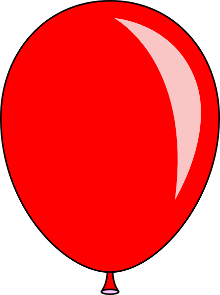 444x595 New Red Balloon Clip Art