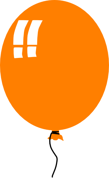 360x590 Orange Ballon Clip Art