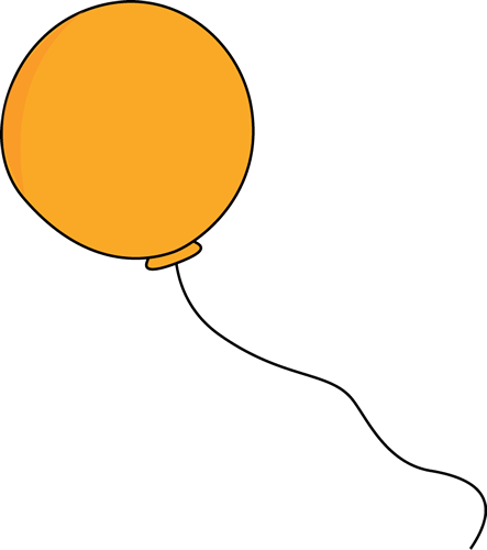 443x500 Orange Balloon Clip Art