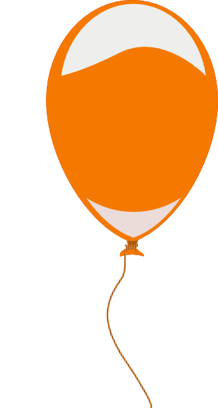 318x595 Orange Baloon Clip Art