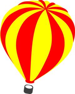 240x300 Yellow Clipart Hot Air Balloon