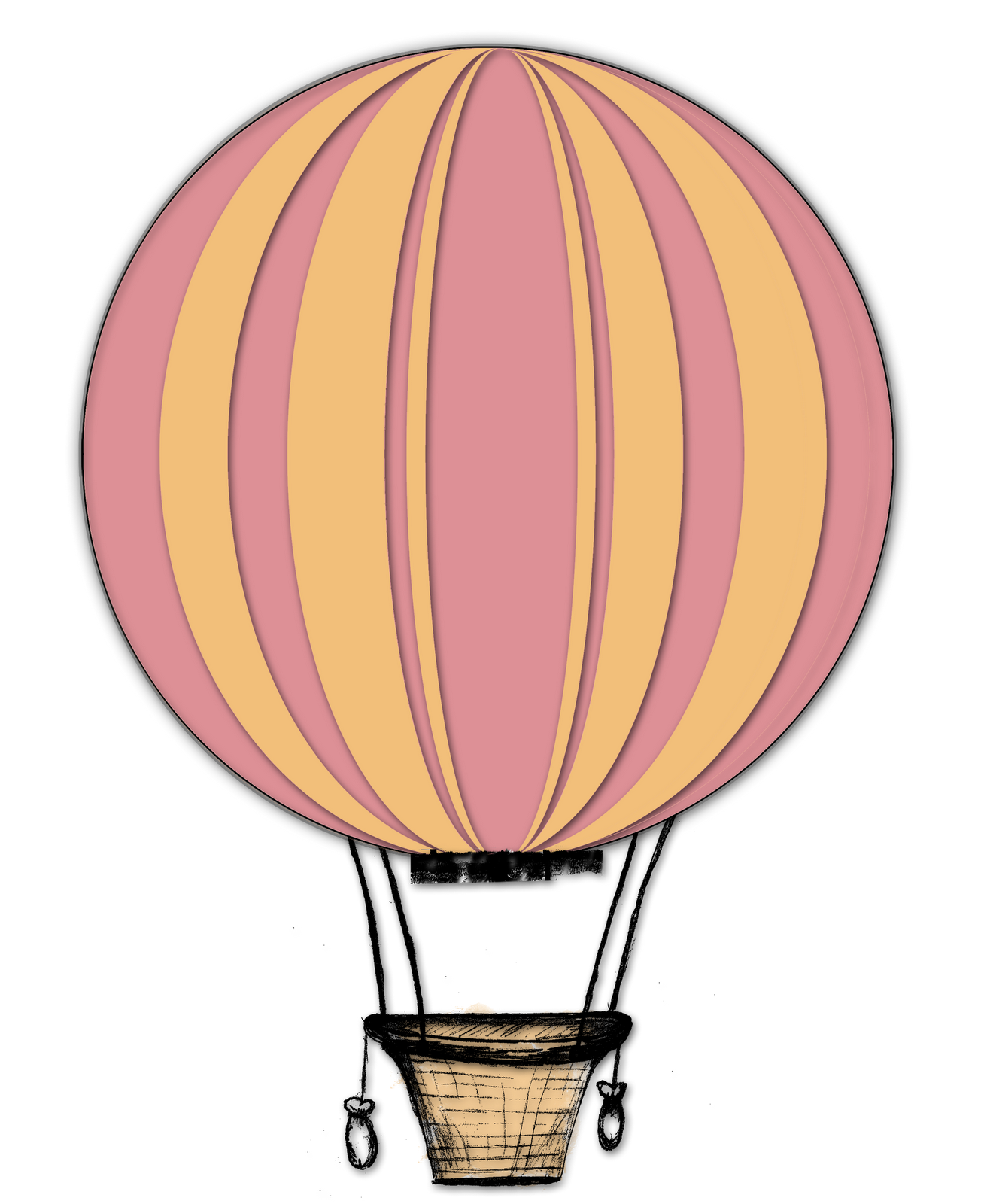 1304x1600 Air Balloon Clip Art 3