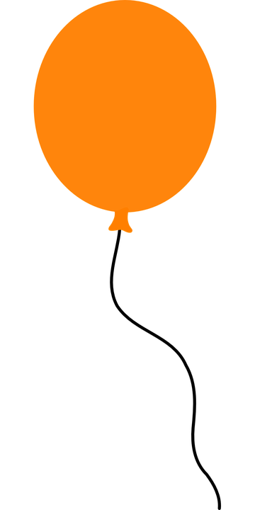 360x720 Balloon Clipart Orange