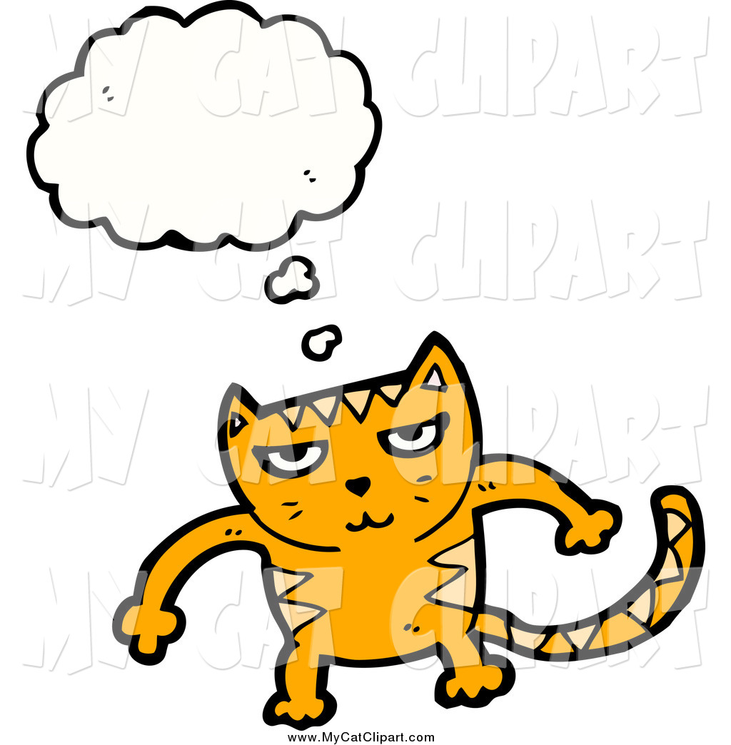 1024x1044 Clip Art Of A Mad Thinking Orange Cat By Lineartestpilot
