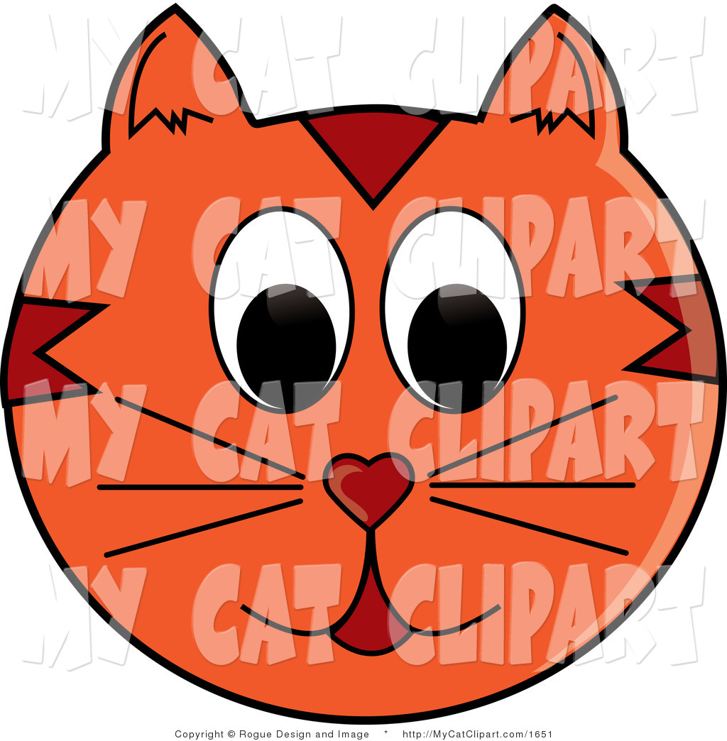1024x1044 Vector Clip Art Of An Orange Cat Face Smiling By Pams Clipart