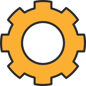300x300 Gears Clipart Orange