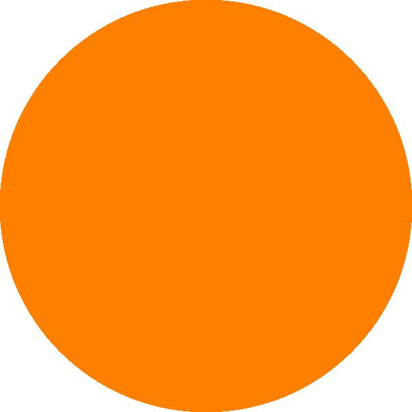 600x600 Glossy Orange Circle Icon Clip Art