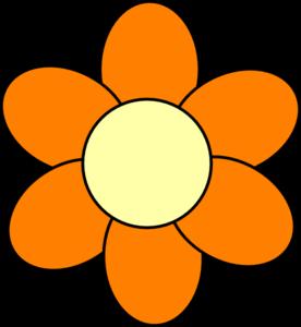 276x300 Orange Flower Clip Art