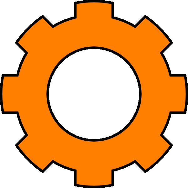 600x600 Orange Gear Clip Art