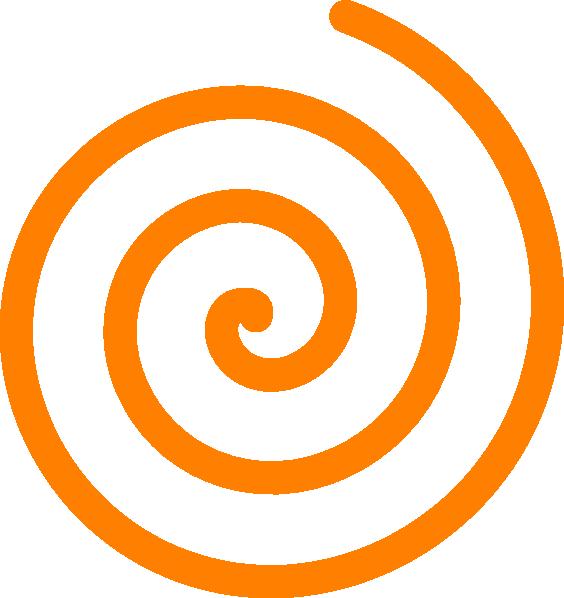 564x598 Orange Spiral Clip Art