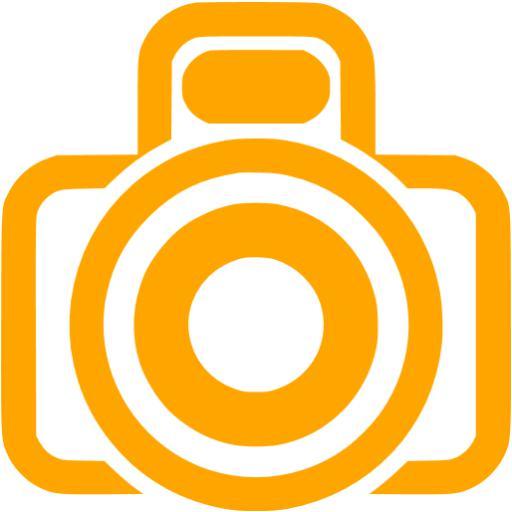 512x512 Orange Clipart Camera