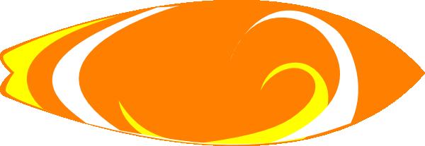 600x207 Orange Clipart Surfboard