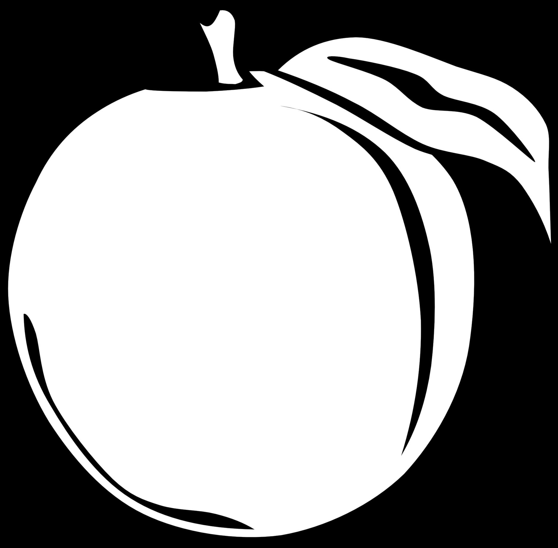 1871x1839 Peach Clipart Orange Fruit