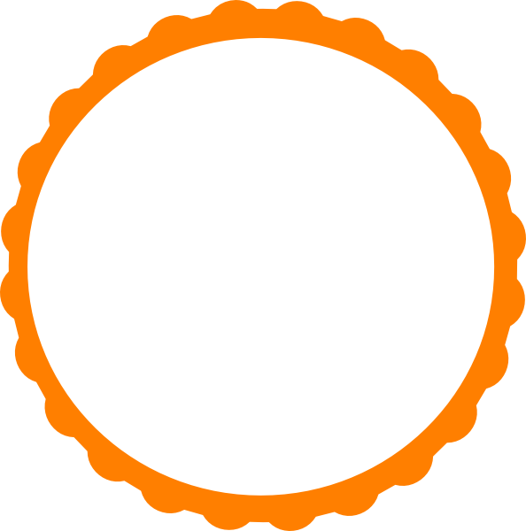 594x600 Pink Scallop Circle Frame Clip Art