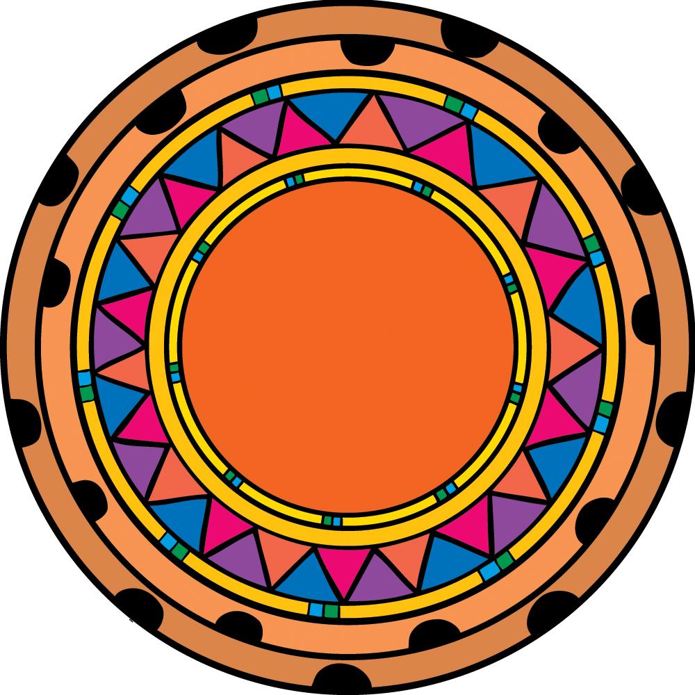 1000x1000 Circle Clipart Aztec