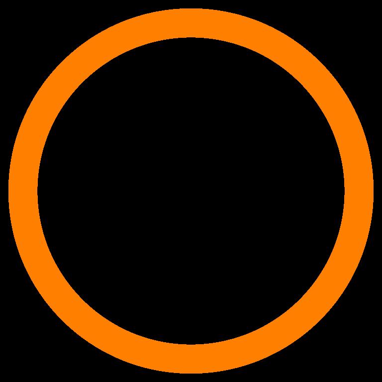 768x768 Circle Clipart Orange Circle