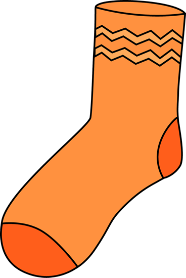 368x550 Orange Sock Clip Art