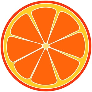 300x300 Free Orange Slice Clipart Image 0515 1006 2302 4212 Food Clipart