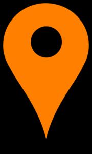 180x300 Map Pin Orange Clip Art