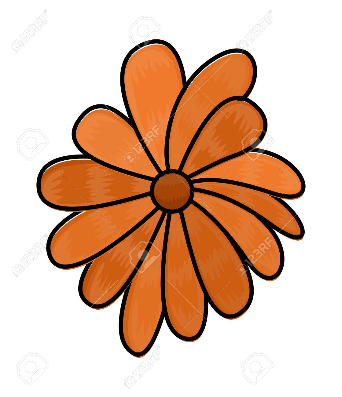 1119x1300 Orange Flower Clipart