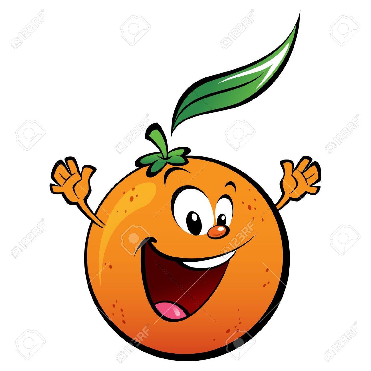 1300x1300 Orange Happy Fruit Clipart