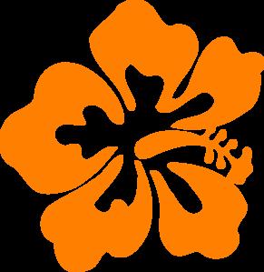 291x299 Orange Hisbiscus Clip Art