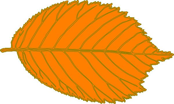 600x361 Orange Leaf Clip Art
