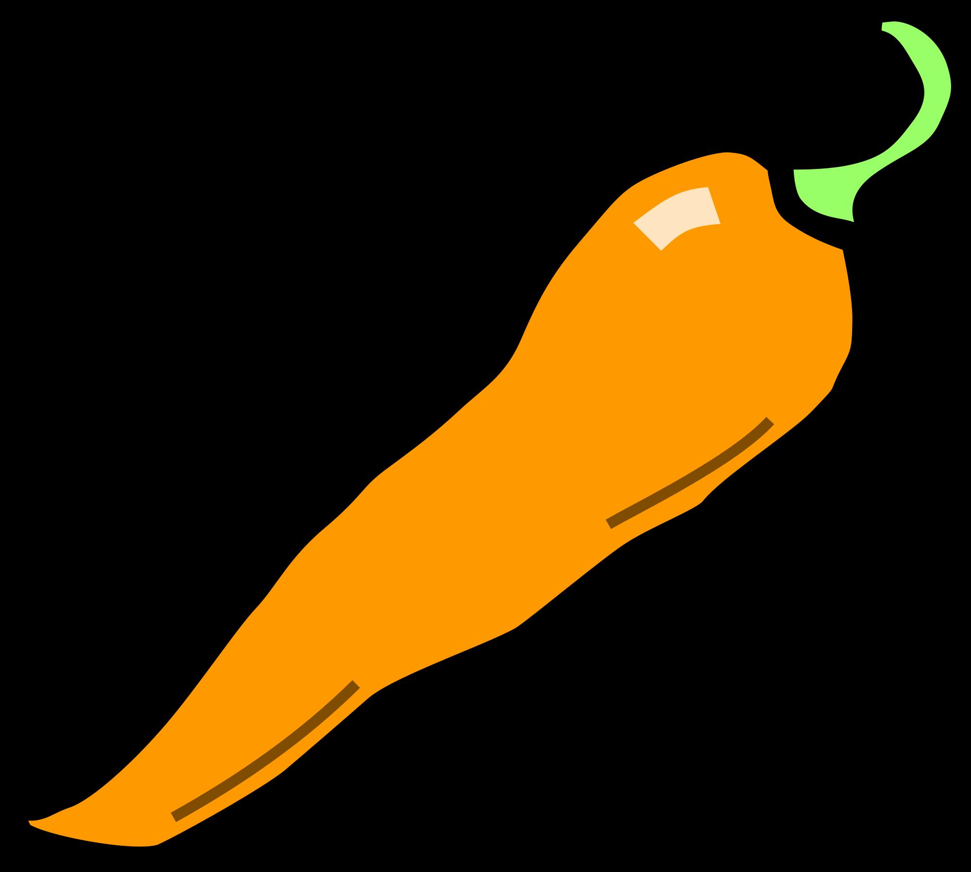 2000x1796 Orange Clipart Chilli