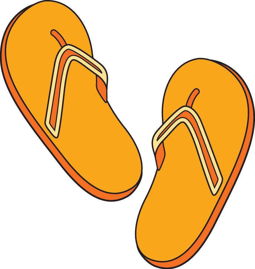 863x910 Orange Clipart Flip Flops